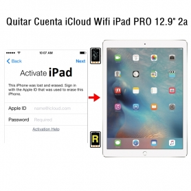 Quitar Cuenta iCloud Wifi iPad Pro 12.9 2nd Gen