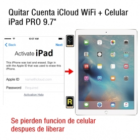 Quitar Cuenta iCloud WiFi + Celular iPad Pro 9.7
