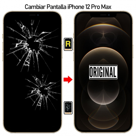 Cambiar Pantalla iPhone 12 Pro Max Original