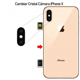 Cambiar Cristal Cámara iPhone X