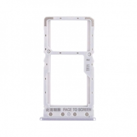 Bandeja Dual SIM/Micro SD Plateada Para Xiaomi Redmi 6A