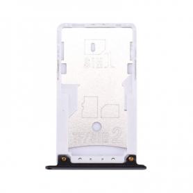 Bandeja Dual SIM/SD Negra Para Xiaomi Redmi Note 4