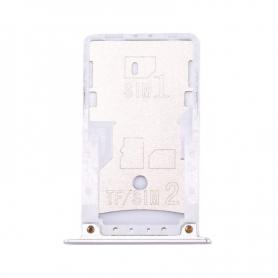Bandeja Dual SIM/SD Blanca/Plateada Para Xiaomi Redmi Note 4