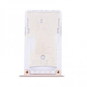 Bandeja Dual SIM/SD Rosa Para Xiaomi Redmi Note 4X