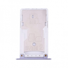 Bandeja Dual SIM/SD Plateada Para Xiaomi Redmi Note 4X