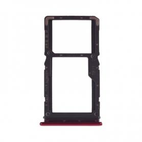 Bandeja Dual SIM+Micro SD Roja Para Xiaomi Redmi Note 7